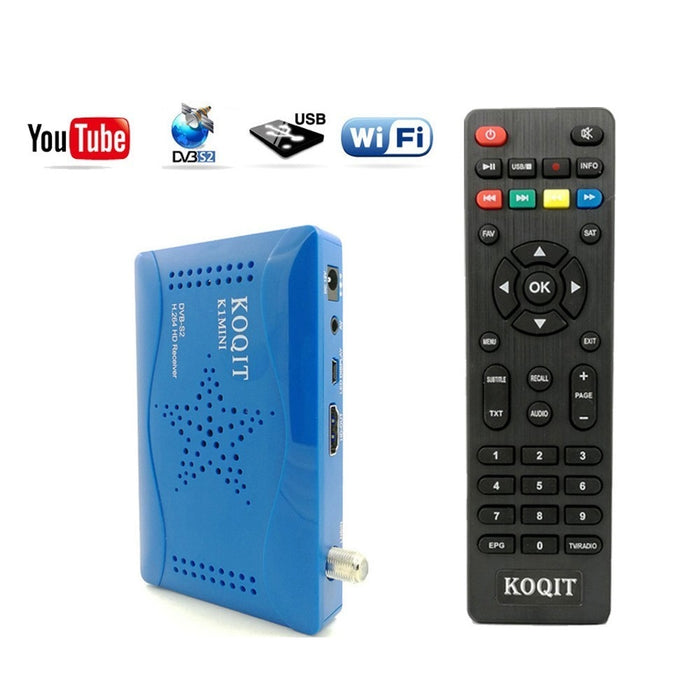 1080p DVB-S2 Satellite Receiver Digital set top Box TV Tuner DVB S2 Receiver Satellite Decoder WIFI Youtube Vu/Biss/Cccam Player - PanasiaMarine.Com