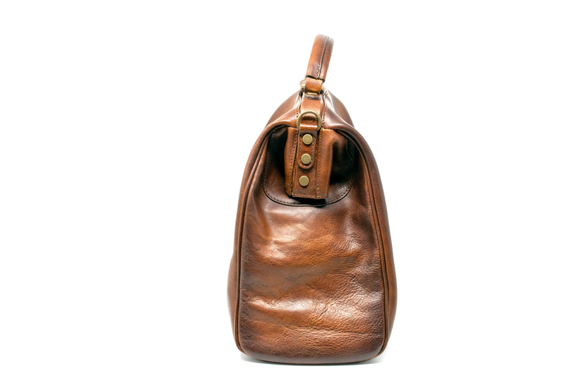 PRATESI FIRENZE LEATHER TOP HANDLE WEEKEND BAG