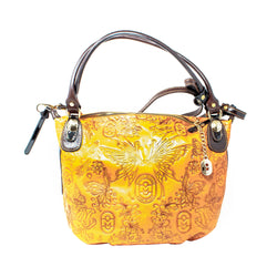 MARINO ORLANDI EMBOSSED LEATHER HANDBAG