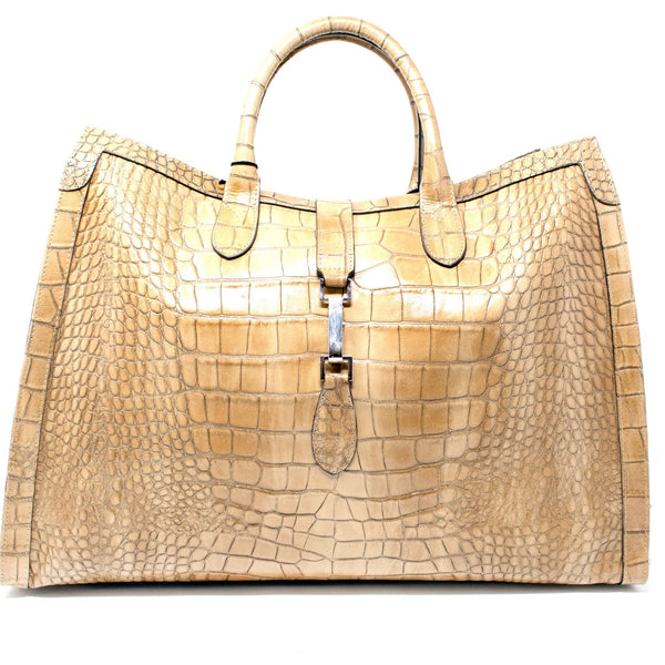 CLAUDIA FIRENZE CLASSIC CROC LEATHER SATCHEL