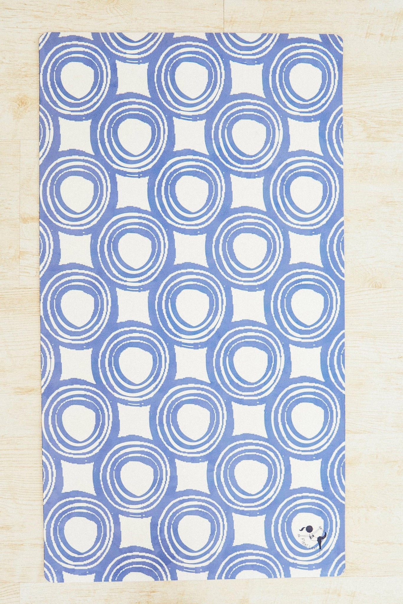 Blue Swirls Flexi Yoga Mat Adult and Mini