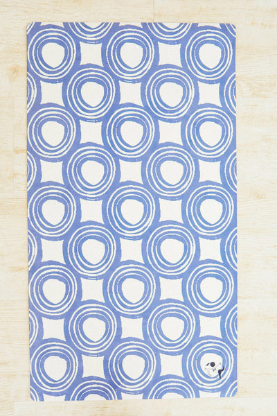 Flexi Lexi Blue Swirls Flexi Yoga Mat Adult and Mini