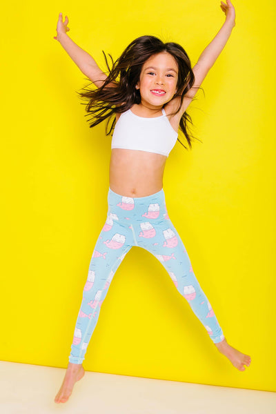 Flexi Lexi Call Me Mer-Cat Flexi Yoga Pants Kids and Minis