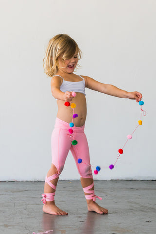 Coral Pink Flexi Dancer Leggings Kids and Minis