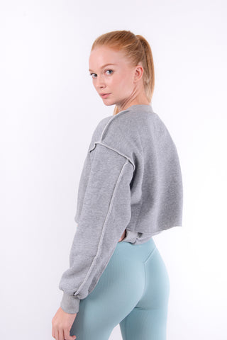 Grey Flexi Sweat Crop