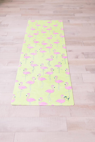 Flexi Lexi Fitness Flamingo Flexi Yoga Mat Adult and Mini