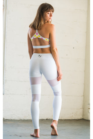 White Peek-A-Boo Flexi Pants