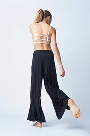 Flexi Lexi Fitness Black Pleated Palazzo Pants