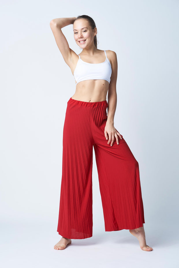 Flexi Lexi Fitness Red Palazzo Pants
