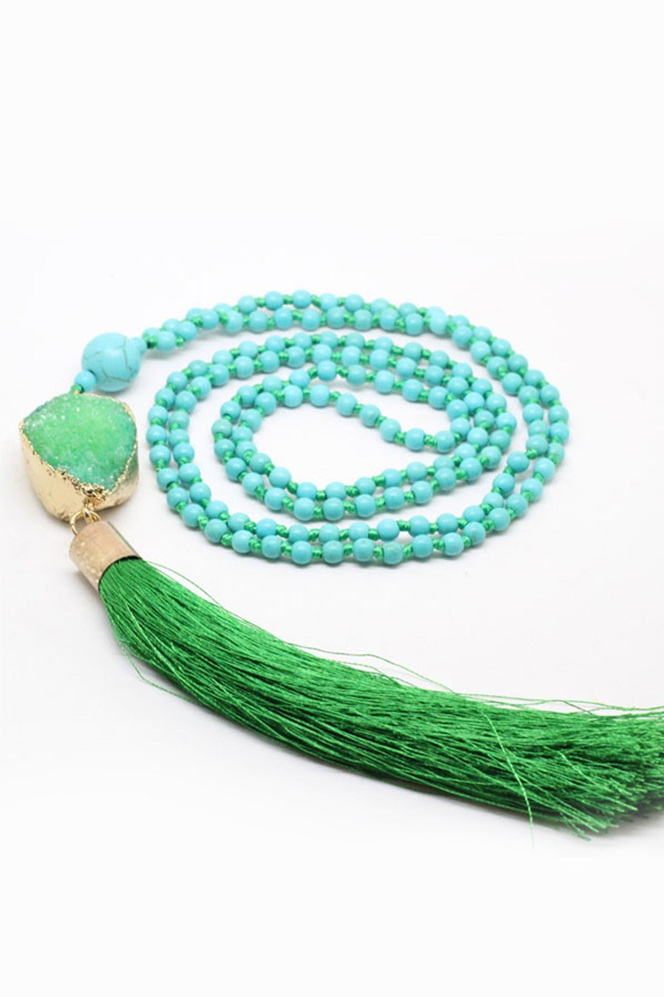 Green Be Bold Druzy Mala