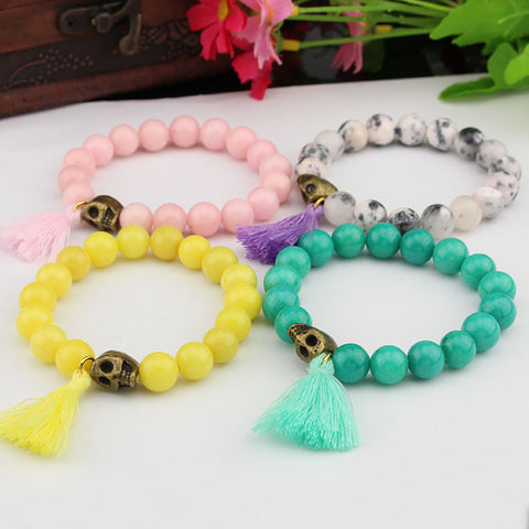 A set of Happy Rainbow bracelets