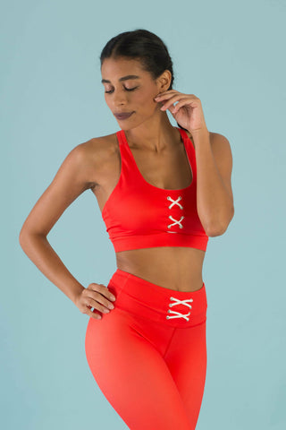 Hello Girlfriend Flexi Crop (Red)