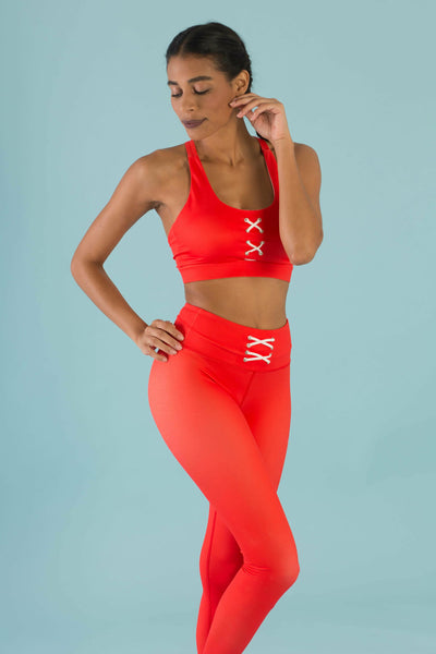 Flexi Lexi Fitness Hello Girlfriend Flexi Pants - Red