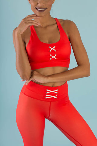 Hello Girlfriend Flexi Pants (Red)
