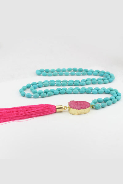 Flexi Lexi Fitness Hot Pink Be Bold Druzy Mala