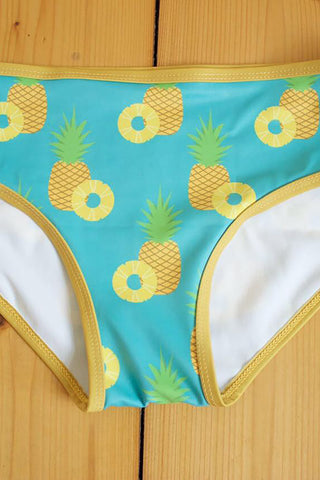 Flexi Booty Shorts - Pineapple