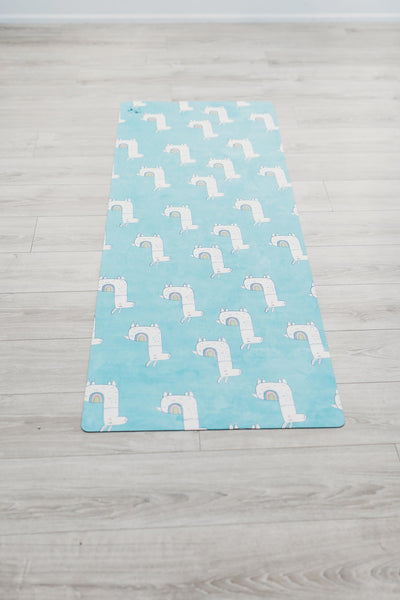 Flexi Lexi Fitness Llama Flexi Yoga Mat Adult and Mini
