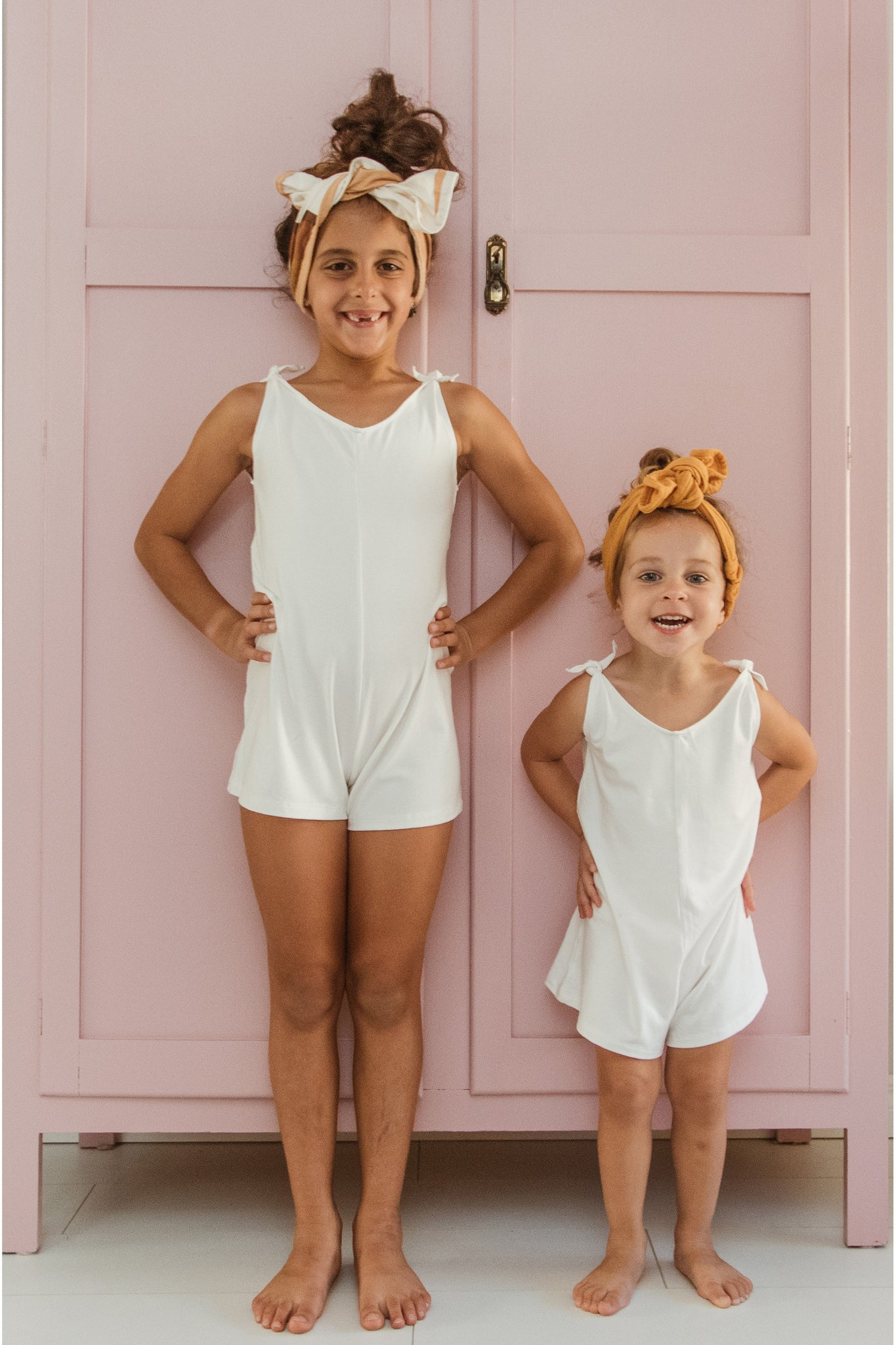 Mini Short Romper - White