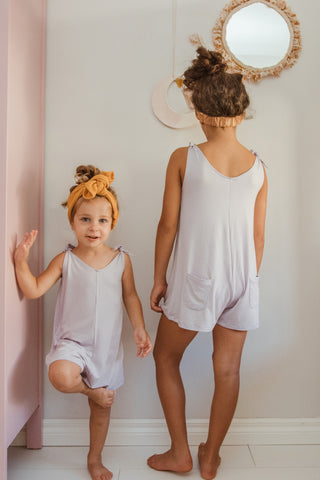 Mini Short Romper - Lilac