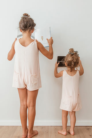 Mini Short Romper - Baby Peach