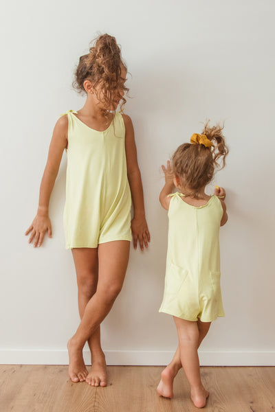 Mini Short Romper - Lemon