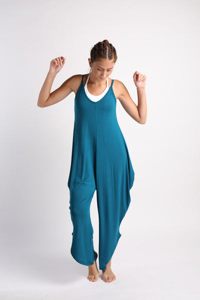 Flexi Long Romper - Peacock