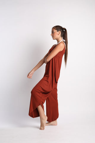 Flexi Long Romper - Chocolate Brown