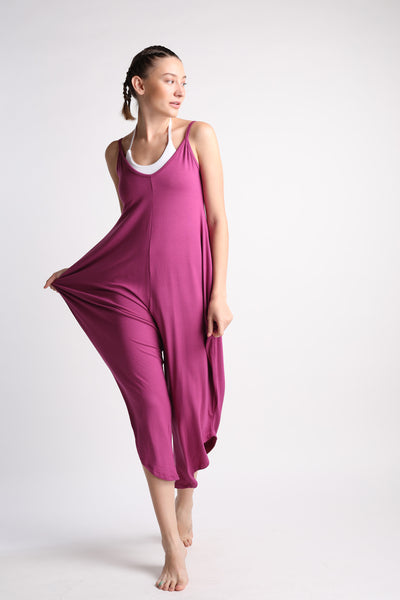 Flexi Long Romper - Mulberry