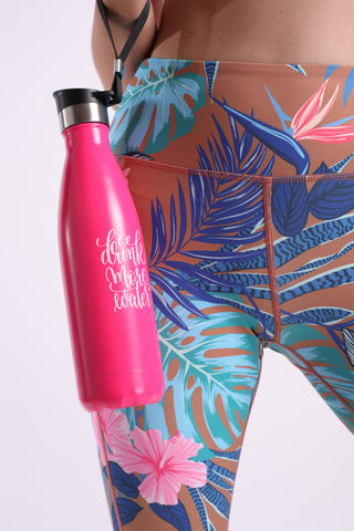 Flexi Drink More Water Thermal (Hot Pink)