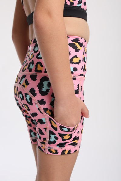 Mini Pink Spot On Flexi Biker Shorts