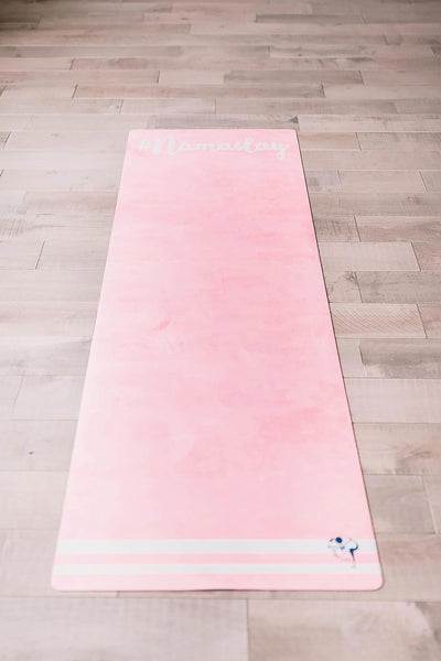 Flexi Lexi #Namaslay Flexi Yoga Mat Adult Pink and Mini Teal