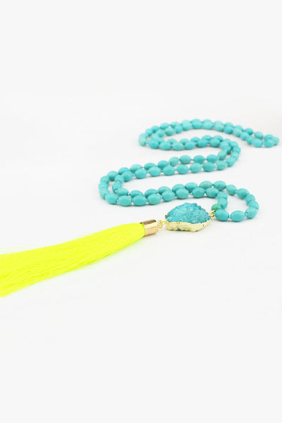 Flexi Lexi Fitness Neon Yellow Be Bold Druzy Mala