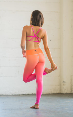 Orange Pink Ombre Flexi Pants