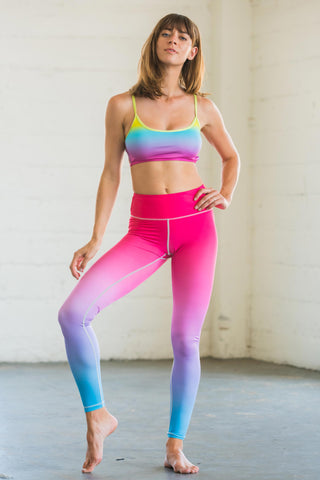 Pink Blue Ombre Flexi Pants