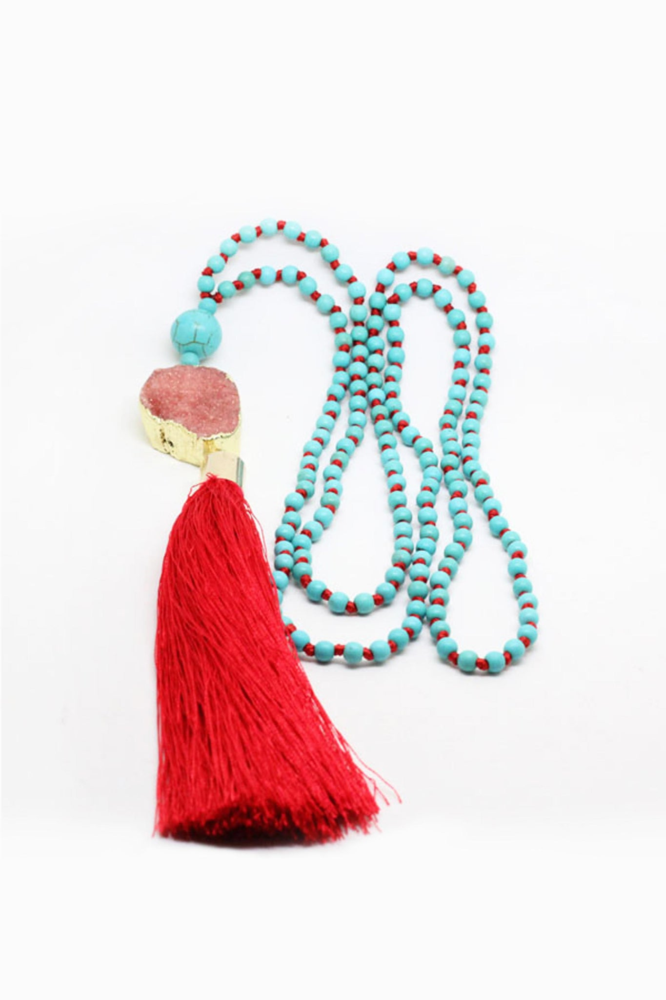 Red Be Bold Druzy Mala