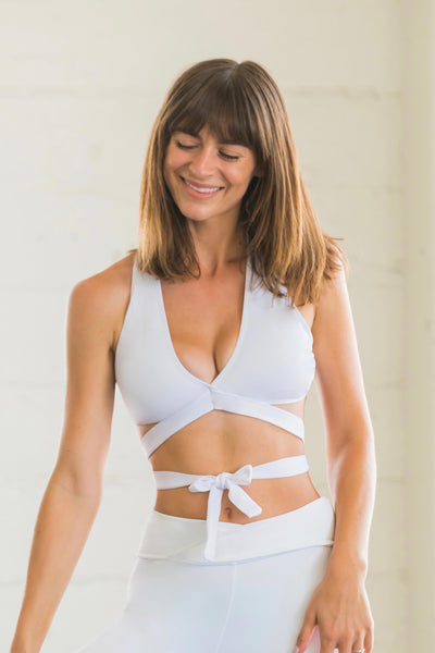 Flexi Lexi Fitness White Betty bralette