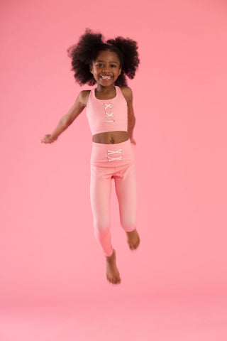 Mini Hello Girlfriend Flexi Pants (Pink)