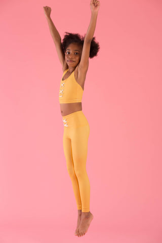Mini Hello Girlfriend Flexi Pants (Yellow)
