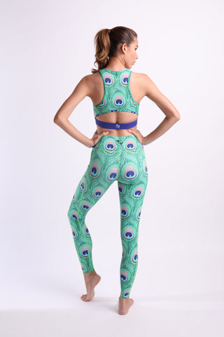 Queen of Peacock Flexi Pants