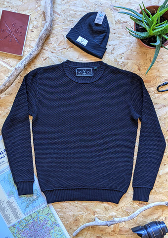 Coastal Crewneck - Black