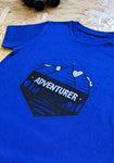 World's Next Adventurer T-shirt Blue