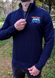 Van Life Embroidered Half Zip Sweatshirt