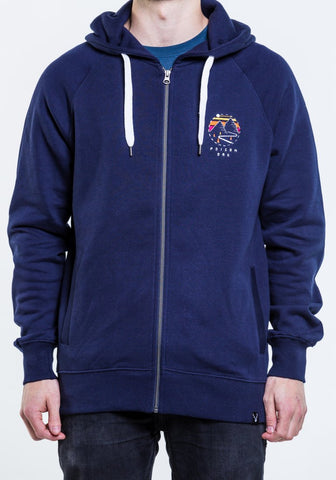 Highland Zip Hoody - Navy