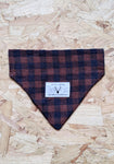 Ethical Dog Bandana - Sienna + Navy Gingham