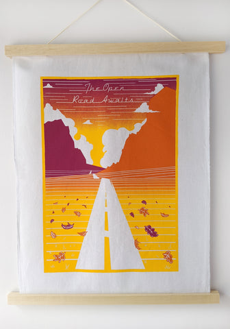 The Open Road Fabric Art Print