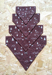 Ethical Dog Bandana - Burgundy