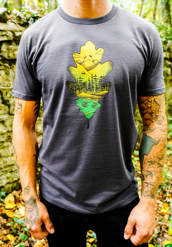 Outdoor Oak T-shirt - Blue Slate