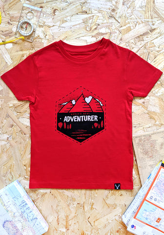 World's Next Adventurer T-shirt - Red