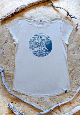 Wanderlust Ladies T-shirt - Off White