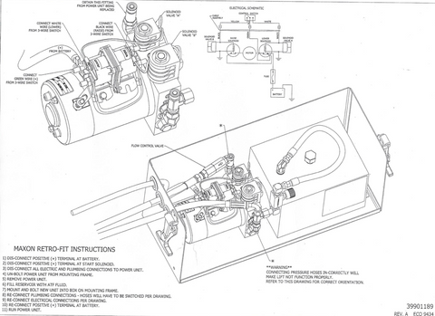 The handbook to replace your Maxon power unit - 267655-01 instructions